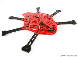 HobbyKing胸部限量版红色迷你FPV六角多转子框架工具包(红色)