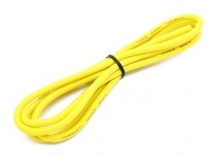 Turnigy高品质14AWG硅胶线1M线(由黄色)