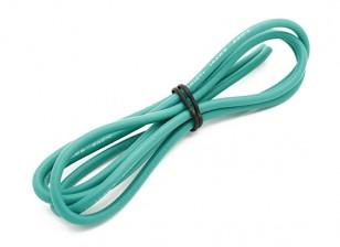 Turnigy高品质14AWG硅胶线1M线(由绿)