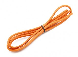 Turnigy高品质16AWG硅胶线1M线(由橙色)