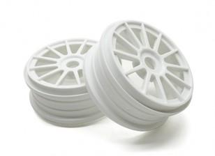 锤1/8比例拉力赛12辐条白色轮辋17毫米十六进制(2PC)