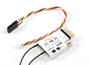 睿思凯X4R 4通道2.4GHz的ACCST接收机(W /遥测)(2015欧版)