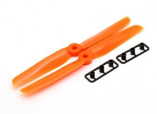 Gemfan 6030螺旋桨顺时针/逆时针设置厚集线器(橙色)