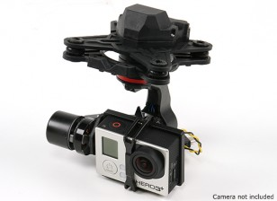 HMG YI3D 3轴万向无刷用GoPro的Hero3类型操作相机兼容