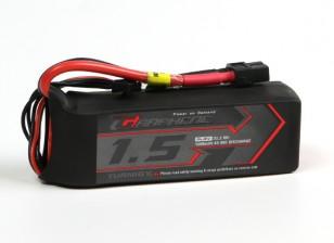 Turnigy石墨烯1500mAh的4S锂聚合物45包瓦特/ XT60