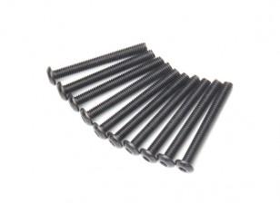 金属圆头机六角螺丝M3x26-10pcs /套