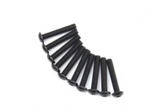 金属圆头机六角螺丝M4x22-10pcs /套