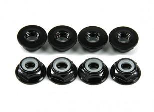 铝法兰薄型螺母Nyloc M5黑色(CW)8片