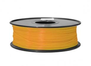 HobbyKing 3D打印机长丝1.75毫米ABS 1KG阀芯(荧光橙)