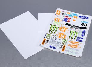 不干胶贴纸表 - 怪物拉力赛1/10量表(3PC)