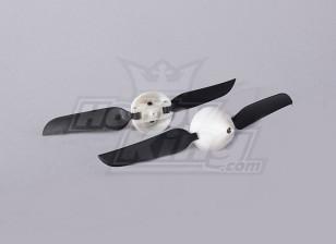 折叠式螺旋桨W /集线器18毫米/2毫米轴5.1x3.1(2个)