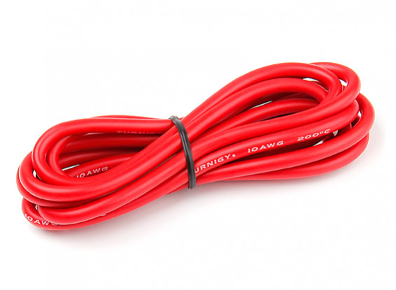 Turnigy High Quality 10AWG Silicone Wire 2m (Red)