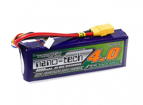 Turnigy nano-tech 4000mAh 4S 45~90C Lipo Pack w/XT-90