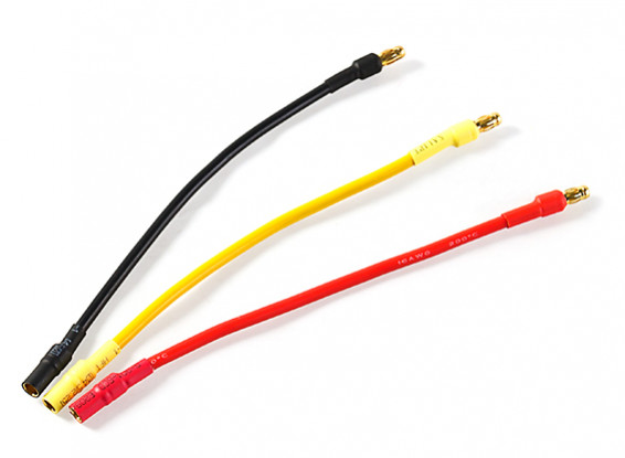 3.5mm Male/Female Bullet Brushless 18AWG Motor Extension Lead 100mm