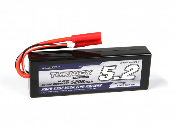 Turnigy 5200mAh 2S 30C Hardcase Pack (ROAR APPROVED)