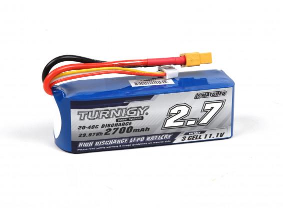 Turnigy 2700mAh 3S 20C Lipo Pack (Suitable for Quanum Nova, Phantom, QR X350)