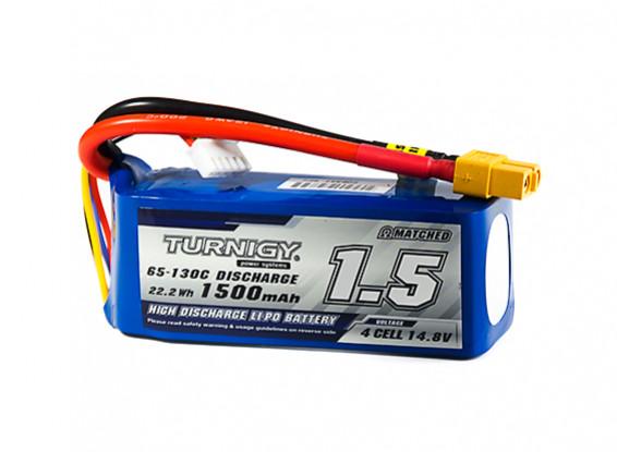 Turnigy 1500mAh 4S 65C Lipo Pack w/XT60