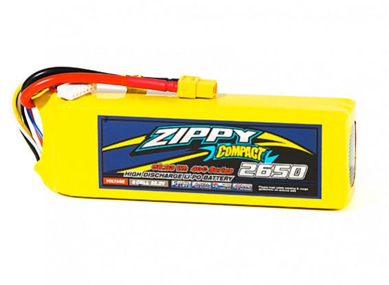 ZIPPY Compact 2650mAh 6S1P 40C Lipo Pack w/XT60