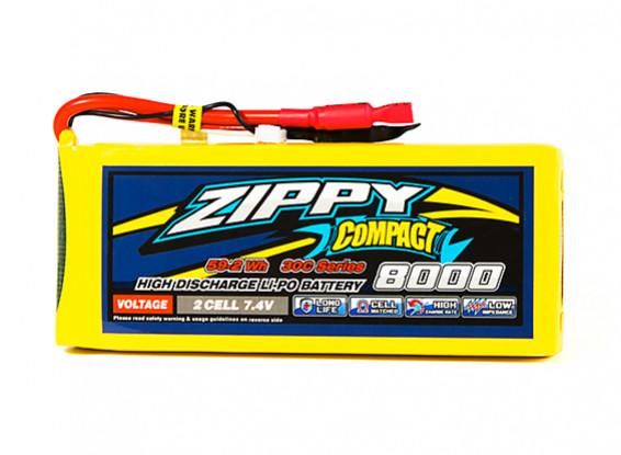 ZIPPY Compact 8000mAh 2S1P 30C Lipo Pack