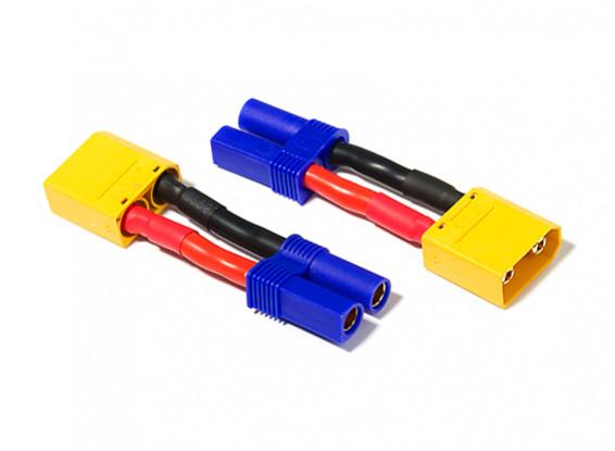 XT90 Male To EC5 Female Adapter (2pc)