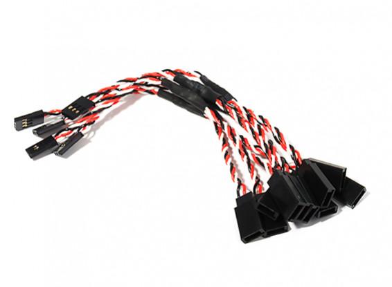 15cm Twisted Servo Y Lead (Futaba) 24AWG (5pcs/bag)