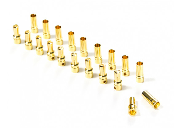 3.5mm Gold Plated Solder Type Battery/Motor Connectors (10 pairs)