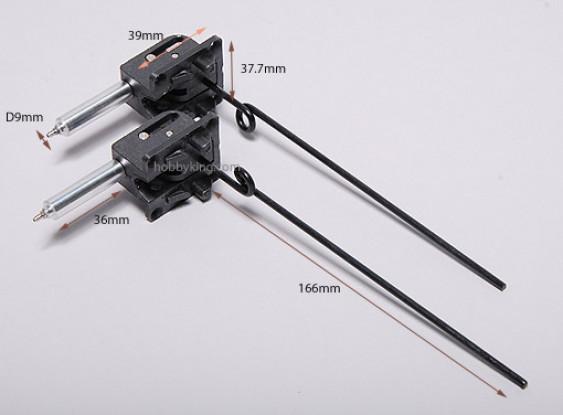 Plastic Air Operated rétracte D3 * L140mm (1 paire)