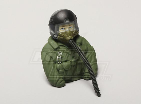 Modèle JET Pilot 1/6 (Vert) (H80 x W68 x D37mm)