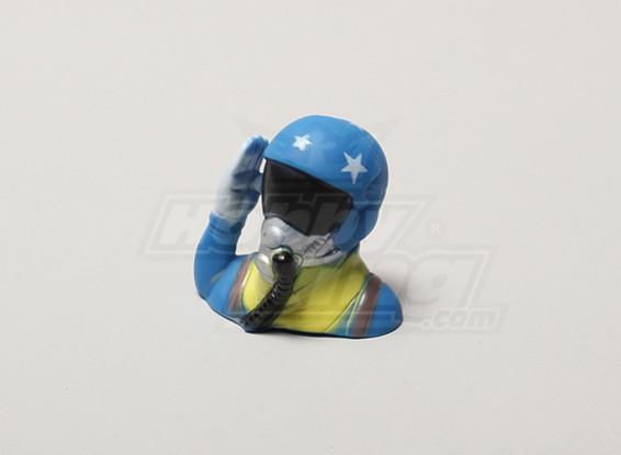 Saluting Jet Pilot (H39 x W43 x D24mm)