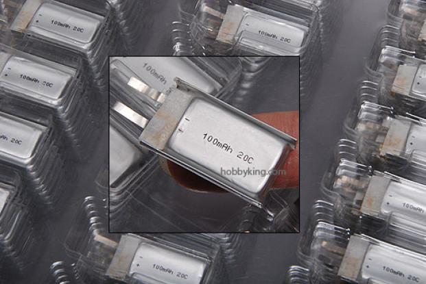 ZIPPY 100mAh 20C cellule unique