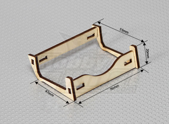 Support de batterie en bois