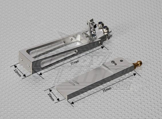 CNC Rudder 75mm avec de l'eau Pick Up