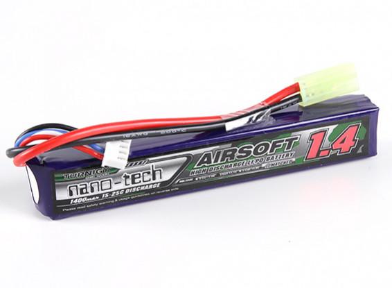 Turnigy nano-tech 1400mAh 2S 15 ~ 25C Lipo AIRSOFT Paquet