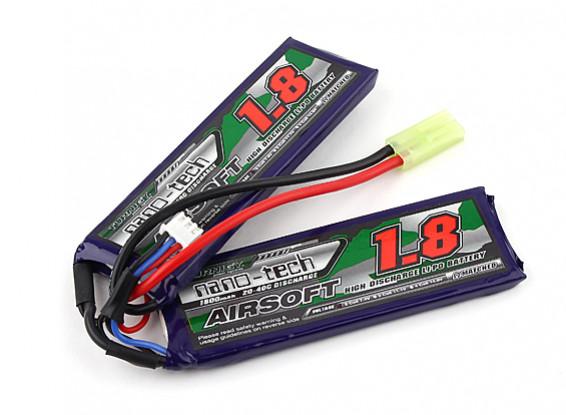Turnigy nano-tech 1800mah 2S 20 ~ 40C Lipo AIRSOFT Paquet