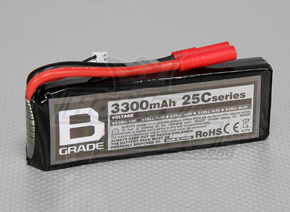 Batterie B-Grade 3300mAh 3S 25C Lipoly