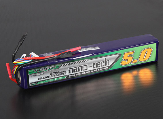 Turnigy nano-tech 5000mAh 10S 65 ~ 130C Lipo Paquet