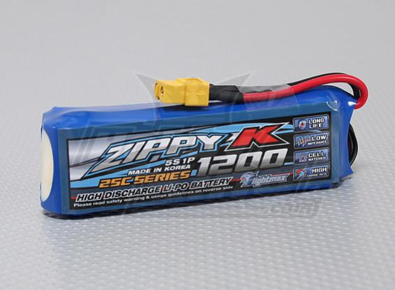Batterie Zippy-K FlightMax 1200mah 5S1P 25C Lipoly