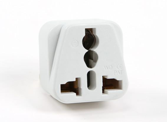 Turnigy WD-5 Fused 13 Amp alimentation secteur multi Adaptateur-Blanc (US Plug)