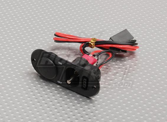 Lourd commutateur Duty RX avec Port Charge & Fuel Black Dot