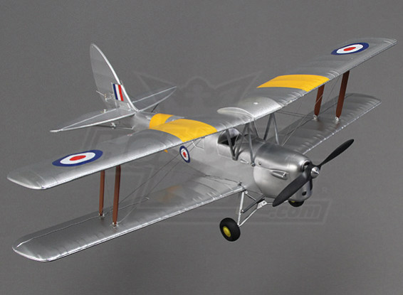 HobbyKing Micro Tiger Moth 560mm w / stand d'affichage (PNF)