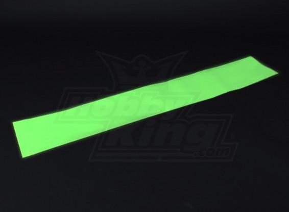 Luminescentes (Glow in the dark) auto-adhésif Film (Vert) - 1200mm x 200mm