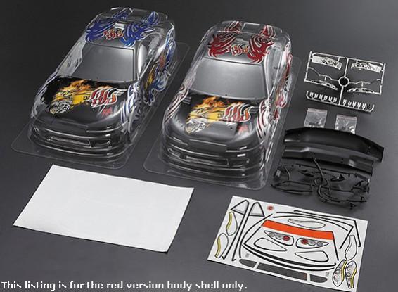 1/10 S15 Shell Car Body w / Graphics pré-imprimées (190mm) - Version Rouge