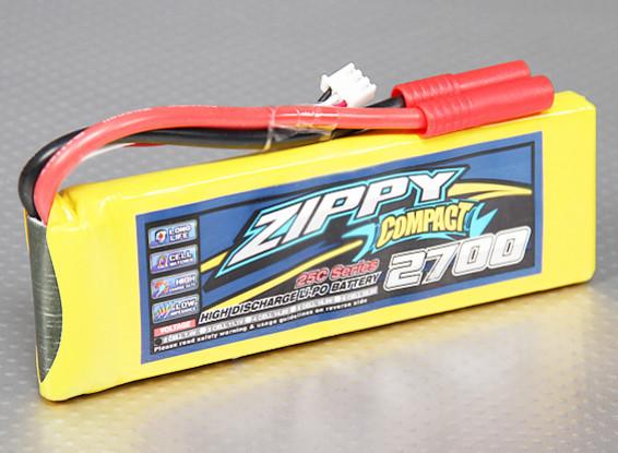 ZIPPY Compact 2700mAh 2S 25C Lipo Paquet