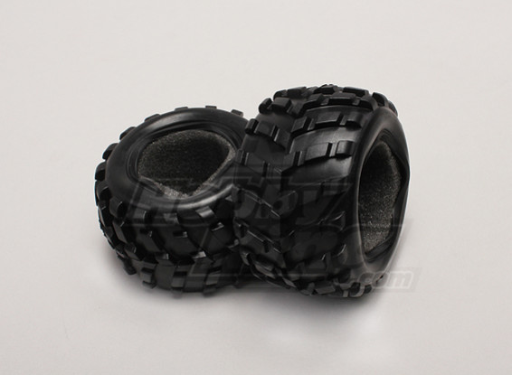 Pneus w / Foam Inserts (2pcs / sac) - 1/18 4WD RTR Short Course Truck