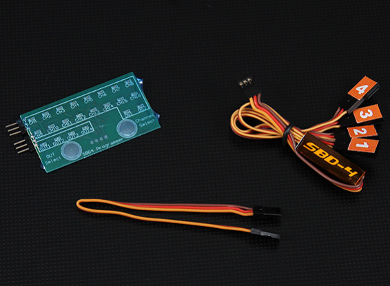 SBD4 4 canaux S.BUS Décodeur et programme de la carte Combo