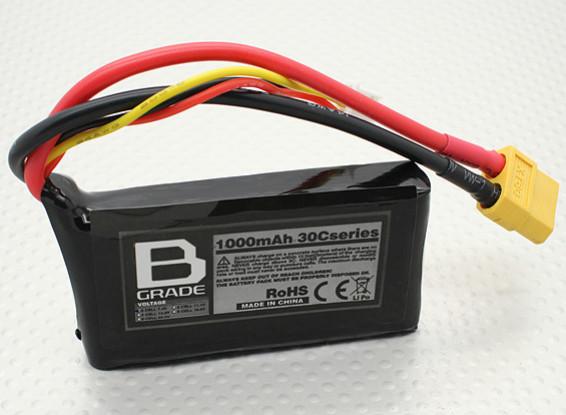 Batterie B-Grade 1000mAh 2S 30C Lipoly