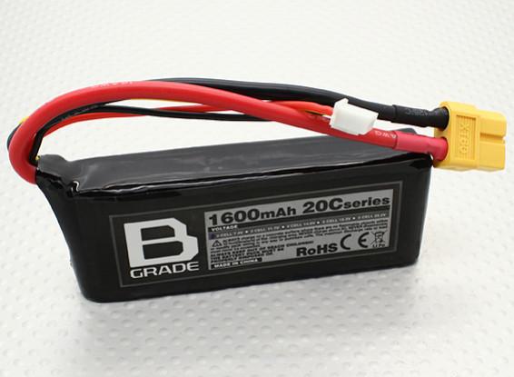 Batterie B-Grade 1600mAh 2S 20C Lipoly
