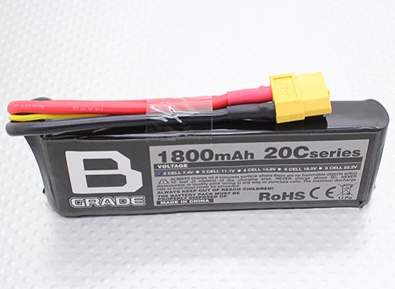 Batterie B-Grade 1800mAh 2S 20C Lipoly