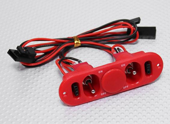 Commutateur lourd Duty RX double avec prise de charge et carburant Red Dot