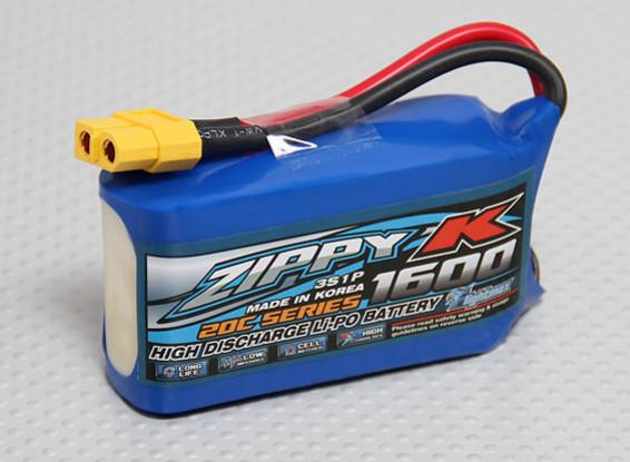Batterie Zippy-K FlightMax 1600mAh 3S1P 20C Lipoly